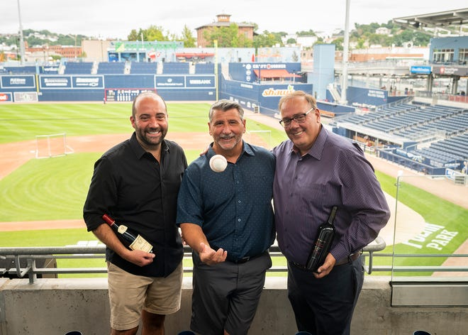 Worcester Wine Festival's Grand Tasting organizers Luke Vaillancourt, Joe Giacobbe and Ed Russo are pictured at Polar Park, where this year's festival will be held Aug. 28.
