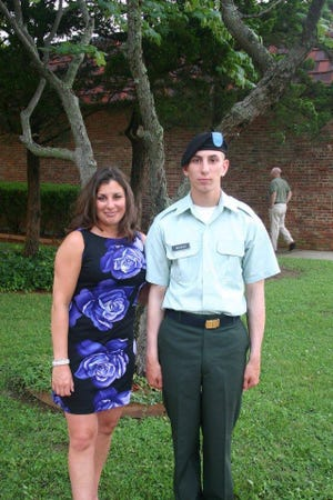 Tracy Racine and her son, U.S. Army Pfc. Brian M. Moquin.