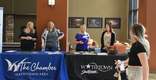 City representatives and the Watertown Area Chamber of Commerce welcomed new Lake Area Technical College students as they entered the school during a kickoff event Tuesday.