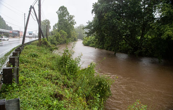 Swannanoa River, near Swannanoa River Road, at about 9:15 am on Tuesday, August 17, 2021.