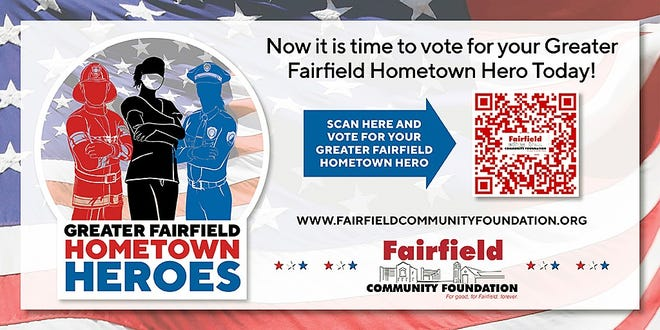 Fairfield residents can vote on a hometown hero to be honored at this year's 9-11 program through Aug. 27.
