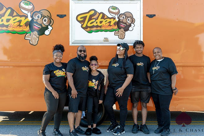 The Tater Headz food truck is open for buisness in Downtown Commons.