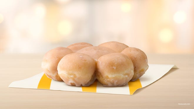 Glazed Pull Apart Donuts are a new menu item at Mcdonald's.