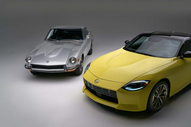 The 2023 Nissan Z evokes previous models of the Japanese automaker's iconic sports car.