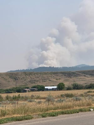 A fire burning in the Hays/Lodgepole area has burned 8,000 acres, as of Tuesday afternoon.