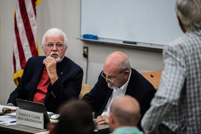 Commission chairman Gary Deaton during a Madison County Board of Commissioners meeting on Monday, Aug 16, 2021 in Jackson, Tenn.