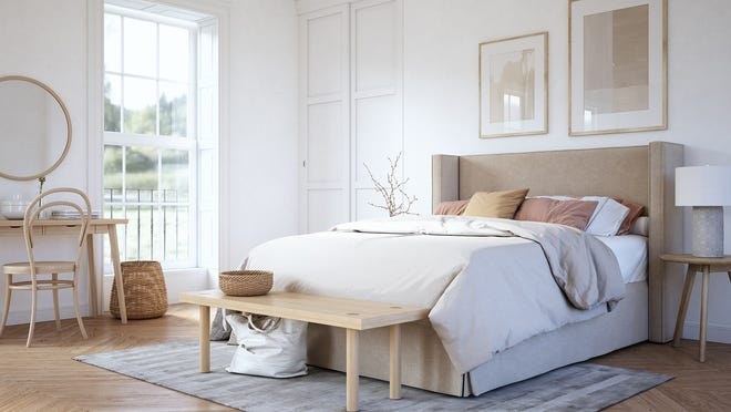 When it comes to carpeting, look for something with a reasonable price tag that still looks full and appealing. Light-colored neutrals are a good option because they generally make the space feel larger.