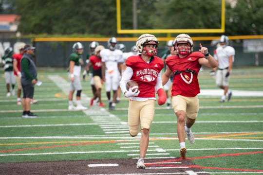 Bergen Catholic football at DePaul in a scrimmage on Tuesday, August 17, 2021.