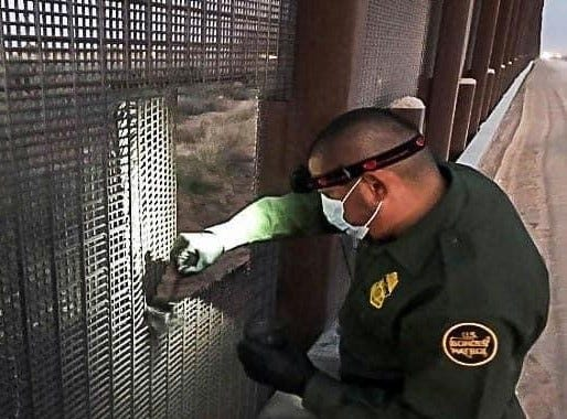 U.S. Border Patrol is working with the Government of Mexico to stop people from cutting the border-barrier-fence from the south side of the border.