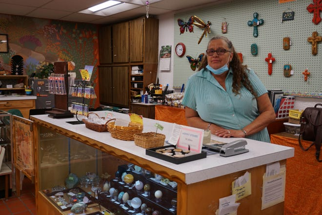 Volunteer coordinator for the Living Desert Zoo & Gardens Kathy Hampton manages the Carlsbad Horticulture Society Gift Store.