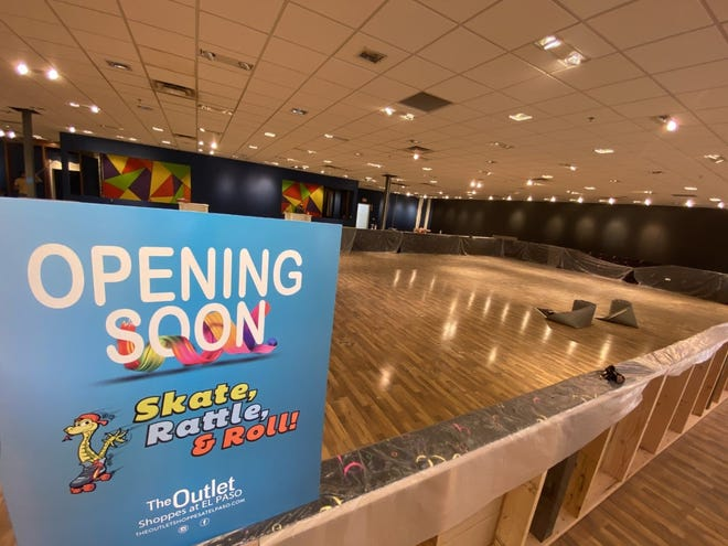 Westside families will soon have a new skating rink, Skate, Rattle & Roll, at the Outlet Shoppes at El Paso.