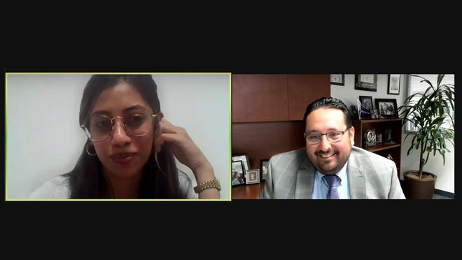 Star education reporter Shivani Patel speaks with Ventura County Superintendent of Schools Dr. Cesar Morales during a live zoom discussion on Monday, August 16, 2021.
