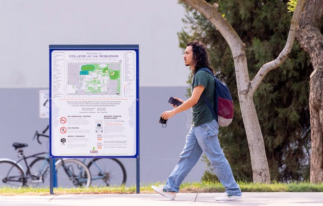 College of the Sequoias students return to class Monday, August 16, 2021.