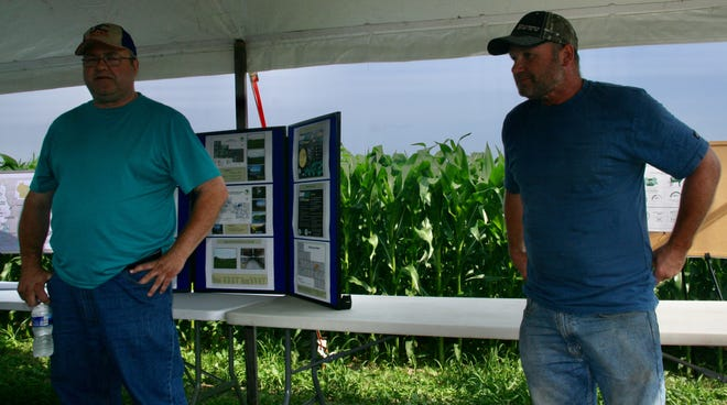 Steve and Greg Tauchen have been planting cover crops on more than 300 acres for the past 10 years to limit loss of topsoil.