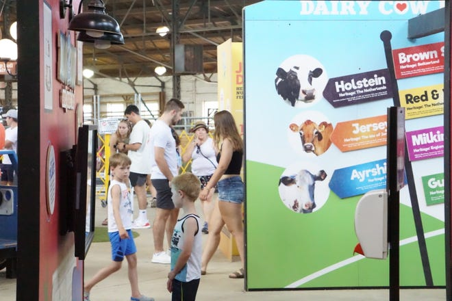 Dairy Lane got a high-tech upgrade with interactive TV videos and games.