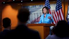 Speaker of the House Nancy Pelosi, D-Calif., insists on linking two spending legislative packages.