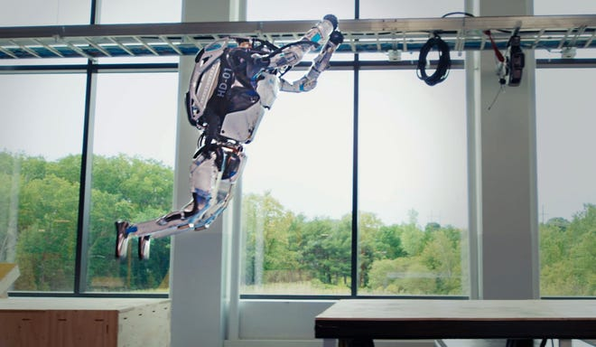 Boston Dynamics, the company known for its robotic dogs, now has humanoid robots named Atlas able to do parkour and synchronized gymnastics moves.