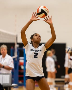 Hendrickson setter Karys Dove executed the Hawk offense and spread the ball, notching 31 assists in a 3-0 win over Leander Aug. 17.