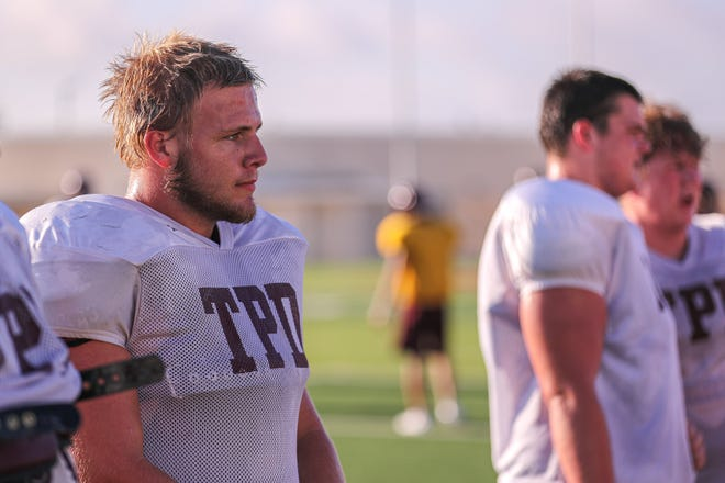Dripping Springs lineman Brendan Kelly was a key component for the offense last season. The Tigers hope to win district outright this year after sharing the title last fall.