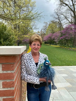"""Local author and illustrator Diane A. Wolfe's children's book, """"Percy the Peacock – Lily's Journey Home,"""" highlights favorite locations throughout Kingwood Center Gardens on its Storybook Trail."""