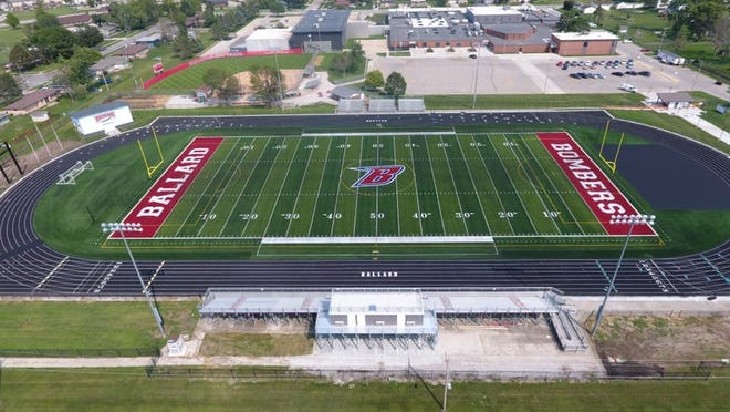 Ballard's Rich Strouse Field got a makeover following last year's derecho storm that rendered the field unplayable for the 2020 high school football season. The Bombers will play their first true home game in 700 days Sept. 10 when they host Boone.