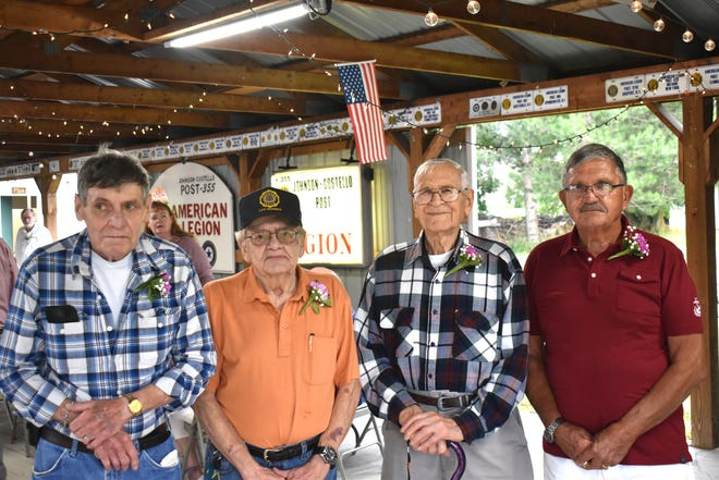 """Those who were able to attend the event included Vietnam veterans Fred Jensen and Ron Potter, World War II veteran Archer Martin, and Vietnam veteran Alan """"Herbie"""" Snyder."""