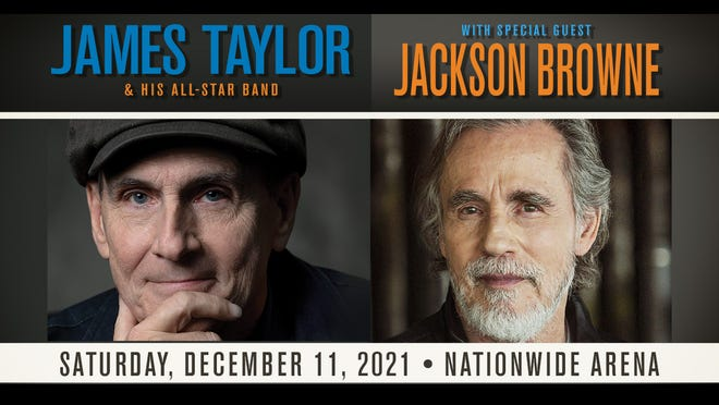 Legendary singer-songwriter James Taylor & His All-Star Bandare coming to Nationwide Arena on Dec. 11, with special guest and Rock and Roll. Hall of Famer Jackson Browne and his band along his side.