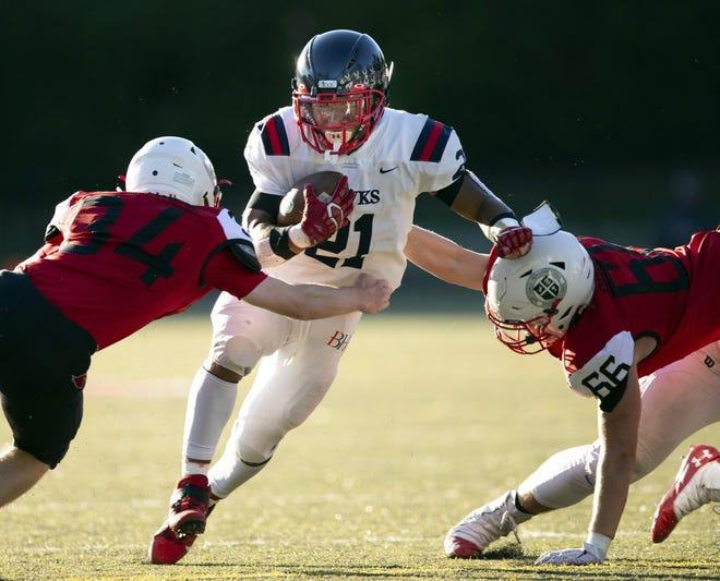 Senior running backand defensive backNyal Johnson rushed for 838 yards and seven touchdowns last season for Hartley, which opens Aug. 19 at Youngstown Ursuline.