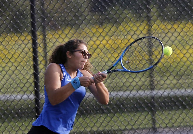 Junior Natalia Garcia is one of the top returnees for a deep Gahanna girls tennis squad that went 14-9 overall and 3-2 in the OCC-Ohio last season.