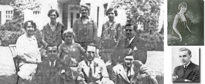 Anna Dodge Dillman is shown with her husband, Hugh Dillman, and his family on the lawn of the former Bush mansion on Roxbury Road in Marble Cliff. Anna was the former wife of the Dodgeautomobile co-founder, Horace Dodge. The heiress purchased the Roxbury mansion as a residence for her new husband's family.