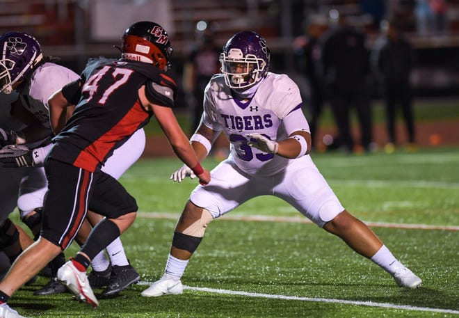 Senior lineman C.J. Doggette is one of the top returnees for Pickerington Central, which opens Aug. 20 at Massillon Washington in a battle of perennial powers.