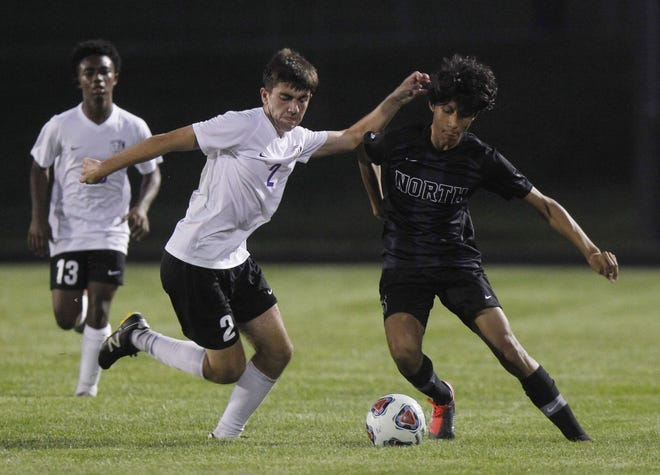 Senior Aaron Artica-Sanchez (right) returns to a North defensive unit that posted 10 shutouts in the team's first 11 games a year ago, allowed more than two goals in a game just twice and gave up only 14 the entire season.