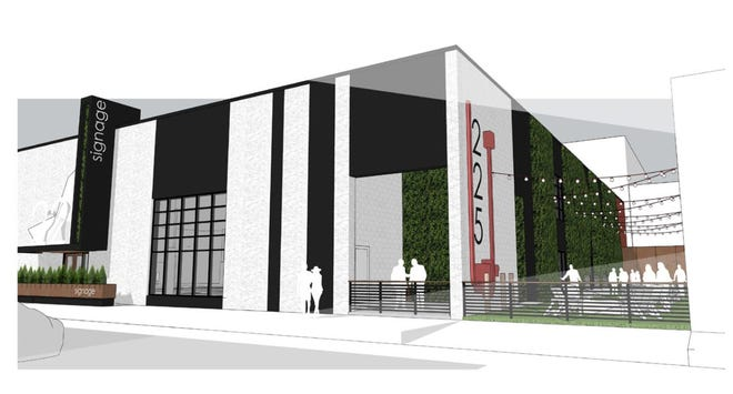 A developer is hoping to convert a Downtown office and warehouse building on Neilston Street into a bar, restaurant and entertainment venue, as shown in this rendering.