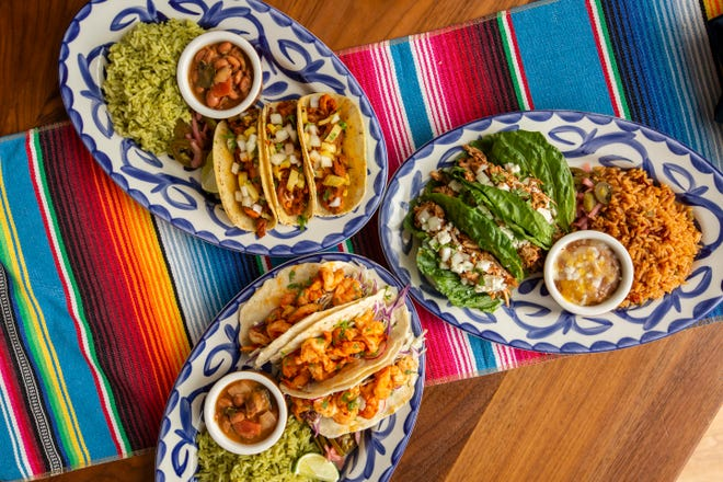 A selection of tacos from El Segundo Mexican Kitchen