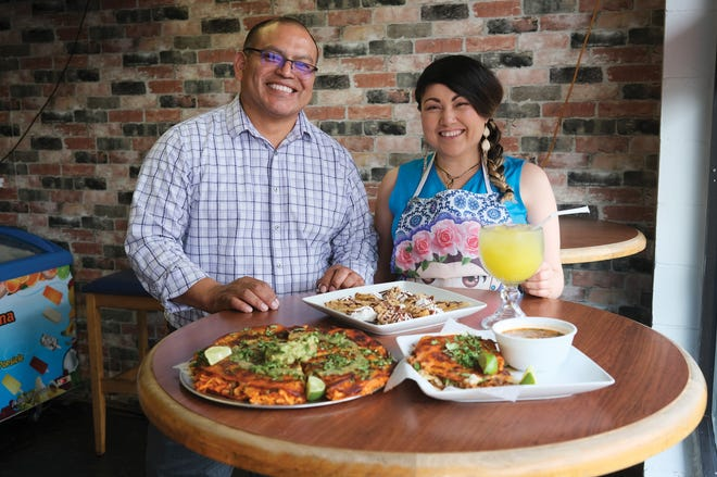 Owner Jose Zacatelco and chef Martha at Martha's Fusion Kitchen