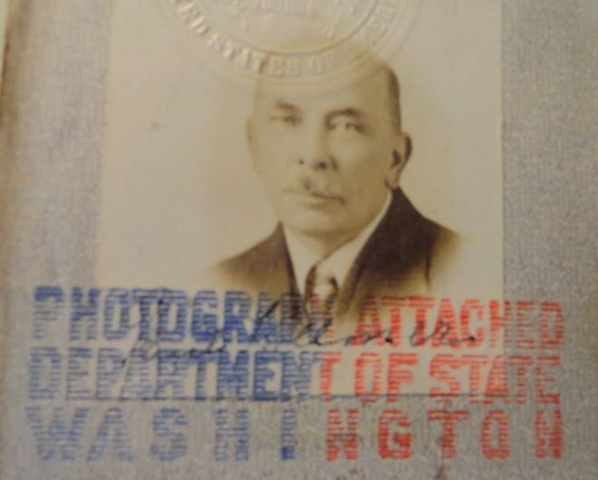 Paul H. Kollmer (from passport) /Courtesy Carl F. Rose