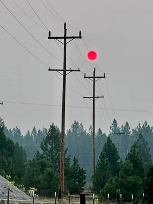 Smoke hung heavy over the town of McCloud on Aug. 11. An evacuation warning for the McCloud area was issued by the Siskiyou County Sheriff's Office on Aug. 17, 2021 due to spread of the Antelope Fire.