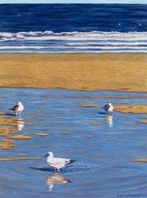 Diane Belfiglio's artwork is the featured exhibit at the North Canton Public Library's gallery. Belfiglio's paintings will be on display through Sept. 19.