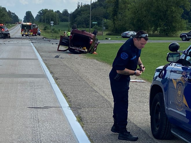 Michigan State Police investigate a crash that killed Mishawaka native Linda Kobb, 68, on Tuesday.