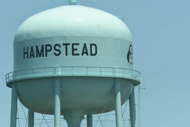 The Hampstead water tower along U.S. 17. If Hampstead became incorporated, it would become one of  the largest towns in Pender County by population. That's if it contained the numbers provided by the 2020 Census.