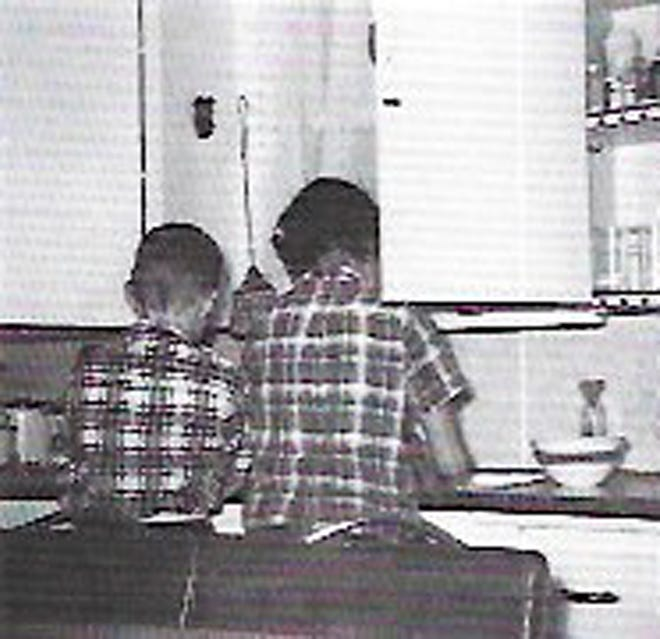 Me and Dee doing the dishes