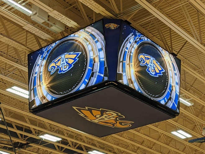 There's a new video display in Golden Eagles Arena at Central High School.