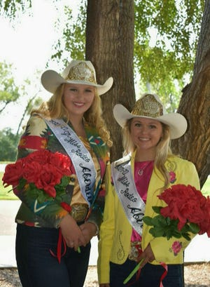 Junior Miss Rodeo Aberdeen Gabrielle Rebelein, left, and Miss Rodeo Aberdeen Katelynn Westphal were crowned Sunday at the 15th Annual Miss Rodeo Aberdeen Queen Pageant. Westphal is the daughter of Wes and Christi Westphal of Leola and 2021 graduate of Leola High School. She will be attending Mitchell Technical College this fall to study animal science. Rebelein is the daughter of Tammy and Dennis Rebelein of Brookings and attends Sioux Valley High School. The two  will represent Aberdeen locally at community activities and bull-riding/rodeo competitions across the state for the next year.