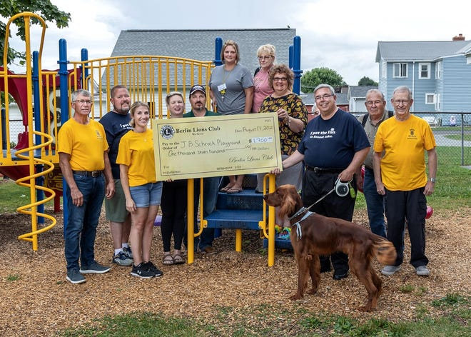 The Berlin Lions Club and Ice Cream Station teamed up July 24-25, for a weekend of Funnel Cakes and Ice Cream. From that fundraiser they were able to donate $1,700 to the J B Schrock Playground. The next Funnel Cakes and Ice Cream event is 3 to 9 p.m. Aug. 21-22, at the Ice Cream Station in Berlin.
