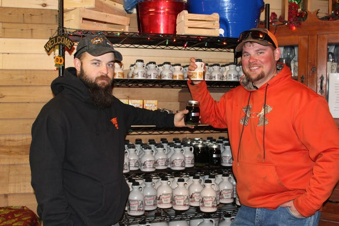 C.J. Livengood (left) and his brother Vernon are shown during the 2019 Maple Taste & Tour.