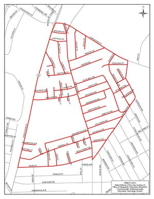 These Worcester streets will be sprayed.