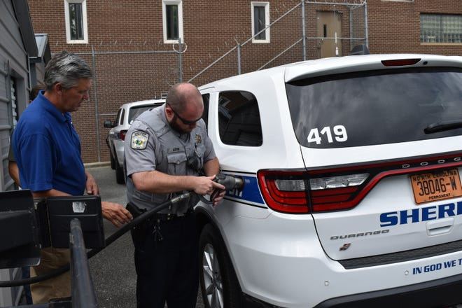 The Alamance County Sheriff's Office is participating in a pilot program in which two patrol vehicles have been converted to use propane autogas.