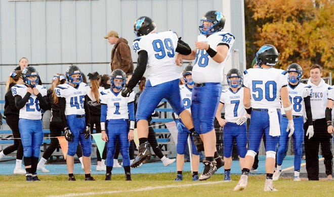 Most of the area high school football teams in the Public Opinion's coverage area, including the Florence-Henry Falcons (shown here), are scheduled to open the 2021 season on Friday night.