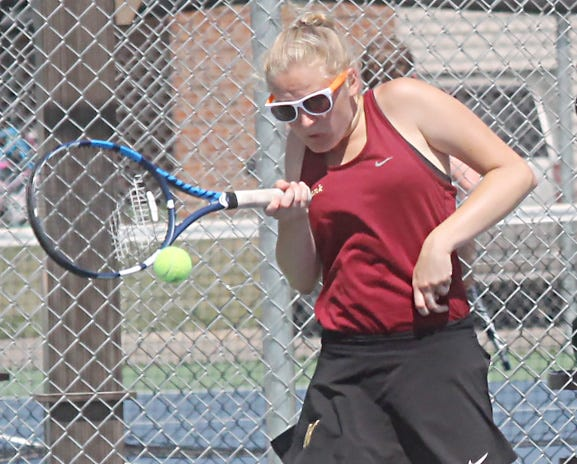 Milbank Area High School senior Hattie Muellenbach has enjoyed a strong start to the 2021 girls tennis season. Muellenbach went 3-1 in No. 1 singles matches last week and also added a win at No. 1 doubles.