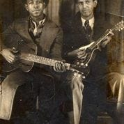 Brownie McGhee (left) (1915–1996) of Knoxville, TN, and Lesley Riddle (right) (1905–1980) of Burnsville, NC, helped shape the development of country and blues music in Southern Appalachia.